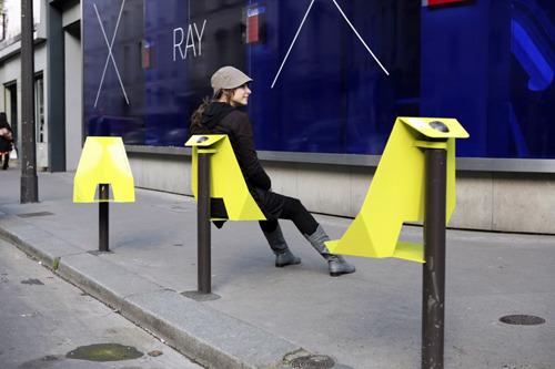 Les potelets entre urbanisme et street art ma plume for Mobilier urbain espace public