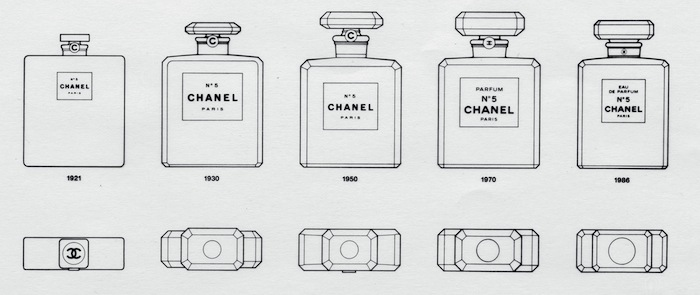 130622 Chanel5 bottle evolution