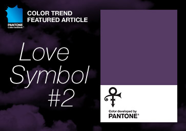 Prince Pantone purple Love Symbol 2