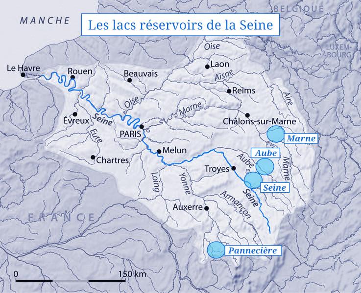 Les réservoirs de la Seine